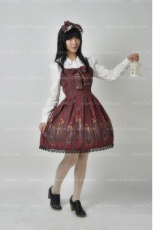 Sweet Original Religious Style Souffle Song Lolita Pleat Dress