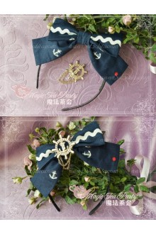 Cotten Sweet The Anchor of the sea Magic Tea Party Knot JSK Lolita Headband