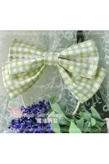 Grass Green Cotten Sweet Magic Tea Party Knot JSK Lolita Headband