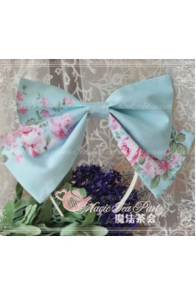 Blue Cotten Sweet Magic Tea Party Knot JSK Lolita Headband