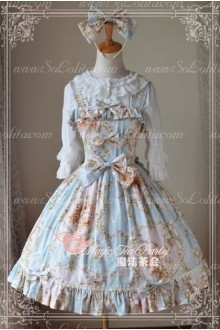 Cotten Sweet Magic Tea Party Flower Knot JSK Lolita Dress