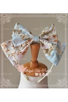 Cotten Sweet Magic Tea Party Flower Knot JSK Lolita Headband