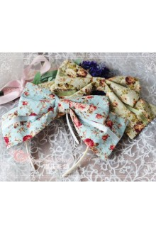 Cotten Sweet Magic Tea Party Flower Print Knot JSK Lolita Headband