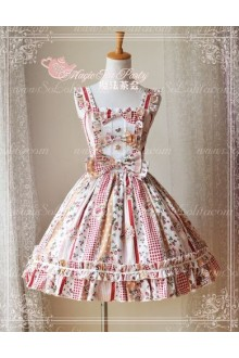 Sweet Magic Tea Party JSK Floral Strawberry Jam Lolita Dress