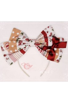 Sweet Magic Tea Party JSK Floral Strawberry Jam Lolita Headband