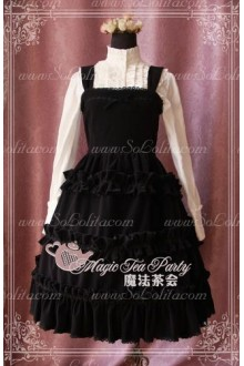 Sweet Magic Tea Party JSK Floral Velveteen suit Lolita Dress