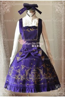 Sweet Magic Tea Party JSK Floral Gplden Embroidery Lolita Dress