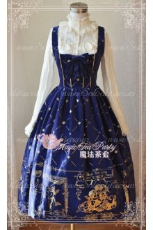 Sweet Magic Tea Party JSK Chest supporting Bronzing Long Lolita Dress
