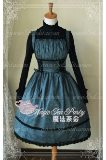 Sweet Cotten Magic Tea Party JSK Floral Aoweina Lolita Dress