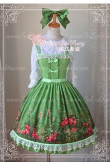 Sweet Magic Tea Party JSK Floral Flower Garden Lolita Dress