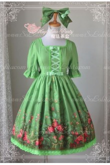 Sweet Magic Tea Party Op Floral Flower Garden Lolita Dress