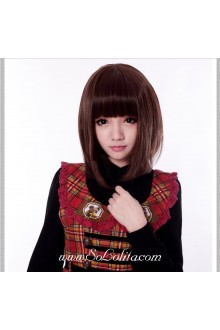 Short Brown Cute Roleplay Lolita Wig