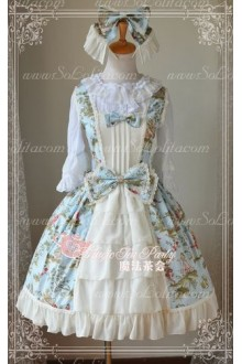 Sweet Magic Tea Party JSK Floral Fairy Castle Lolita Dress