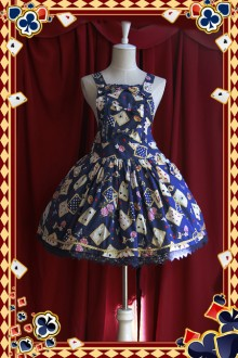 Infanta Poker Cards Printed Shoulder Straps Lolita JSK Dress