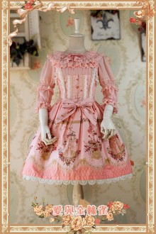 Infanta Love & Canary Printed Cotton Lolita Jumper Dress