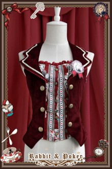 Infanta Rabbit & Poker Prints Classic Lolita Vest 4 Colors