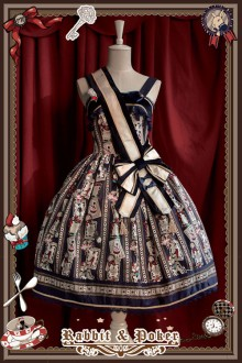 Infanta Rabbit & Poker Prints Lolita Dress