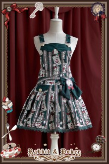 Infanta Rabbit & Poker Prints  Lolita Strap Dress