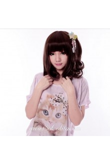 Short Brown Pear Head Cute Roleplay Lolita Wig