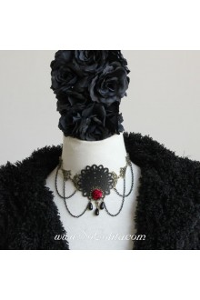 Lolita Punk  Black Dress Costume Party Necklace