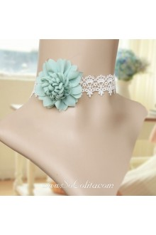 Lolita Floral Cute Stylish Lace White Necklace