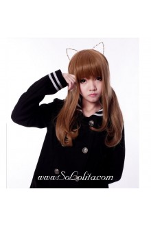 Khaki Long Curl Sweet Roleplay Lolita Wig