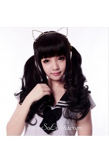 Black Long Curl Sweet Roleplay Lolita Wig