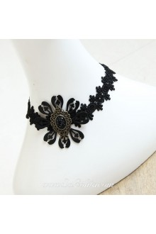 Lolita Stylish Lace Black Necklace