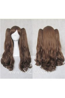Lolita Wig Curl Brown Cute Medium