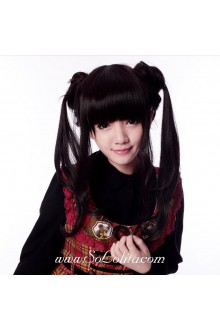 Long Black Lady Sweet Roleplay Lolita Wig