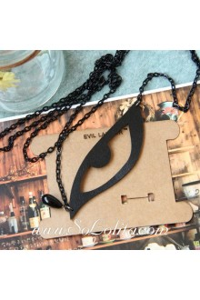Minimalistic Stylish Wild Vintage Black Eye Lolita Sweater Chain