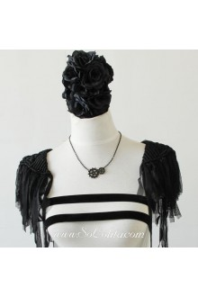 Punk Black Gears Hip-Hop Stylish Clavicle Lolita Sweater Chain