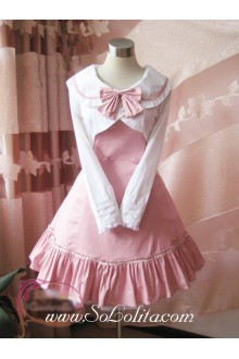 Academy Style Pink Slim Bow Princess Dress