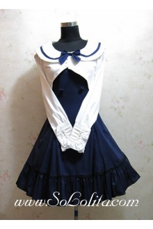 Academy Style Navy Slim Bow Princess Dress
