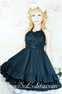 Black Royal Court Barbie Doll Sweet Lolita Dream Tee Dress