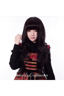 Black Lady Long Curl Sweet Roleplay Lolita Wig
