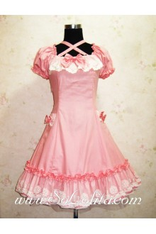 Beautiful Pink Retro Palace Lace Princess Classic Lolita Dress