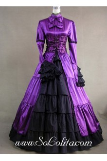 Corset Ruffle Royal Purple Gothic Victorian Lolita Dress