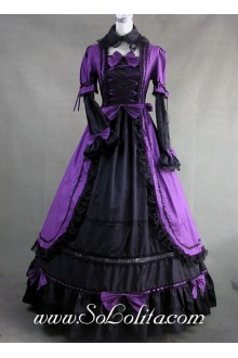 Lace and Bows decoration Ruffle Gothic Victorian Lolita Dress