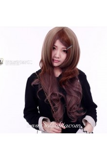 Brown Long Curl Sweet Roleplay Lolita Wig