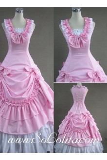 Sweet Bows Pink Sleeveless Gothic Victorian Lolita Dress