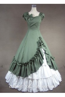 Sweetheart Ruffled Bow Decoration Gothic Victorian Lolita Dress