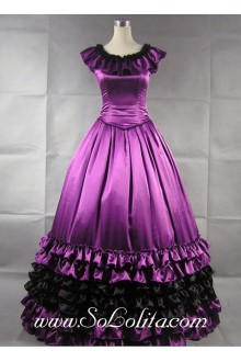Luxuriant Purple Ruffled Vintage Gothic Victorian Lolita Dress