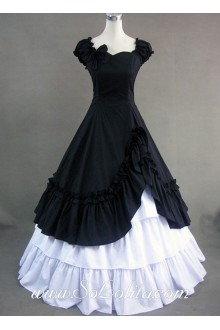 Black Sweetheart Ruffled Bow Decoration Gothic Victorian Lolita Dress