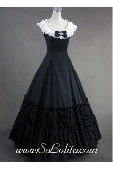 Aristocrat Style Sleeveless Ruffled Gothic Victorian Lolita Dress
