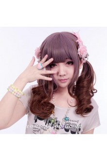 Dreamful Purple Brown Curl  Sweet Roleplay Lolita Wig