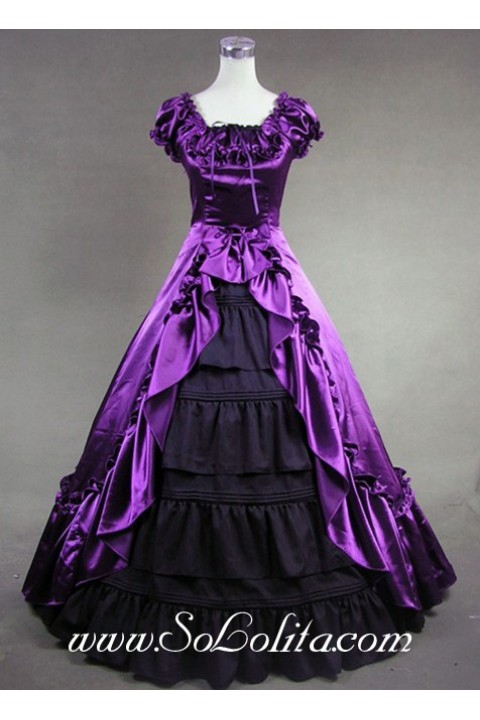 Luxuriant Purple And Black Gothic Victorian Lolita Dress