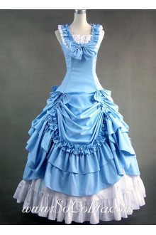 Gothic Victorian Sweet Sky Blue Sleeveless Lolita Dress