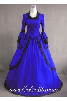 Gothic Victorian Royal Blue Vintage Noble Lolita Dress
