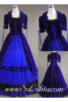 Gothic Victorian Aristocrat Blue Noble Fashion Lolita Dress